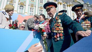 LK 17.03.2021 Toisen maailmansodan veteraaneja Venäjällä voitonpäivänä.