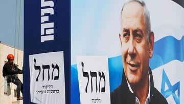 LK 20.3.2021 Netanjahu vaalikampanjajuliste