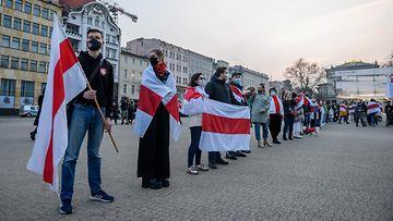 AOP Valko-Venäjä mielenosoitus mielenilmaus Belarus 17.56786757