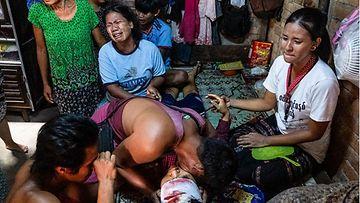 Lehtikuva 27.3.2021 Myanmar mielenosoitus uhri 62243194