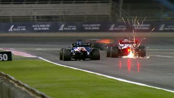 Kimi Räikkönen, Fernando Alonso, 2021, ohitus, Bahrain