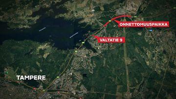 OMA: Tampere, Valtatie 9, liikenneonnettomuudet