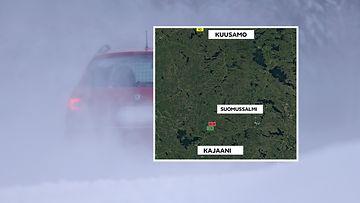 5.4.2021 Suomussalmi onnettomuuspaikka kartta