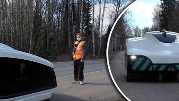 Mikä ihmeen härveli putsaa Espoossa katuja? Tämmöinen on maailman ensimmäinen katupölyä vastaan taisteleva robottilakaisukone