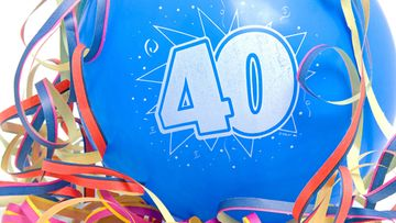 40-vuotis, syntymäpäivä, ilmapallo