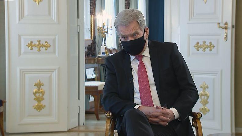 Presidentti Niinistö MTV Uutisextrassa.