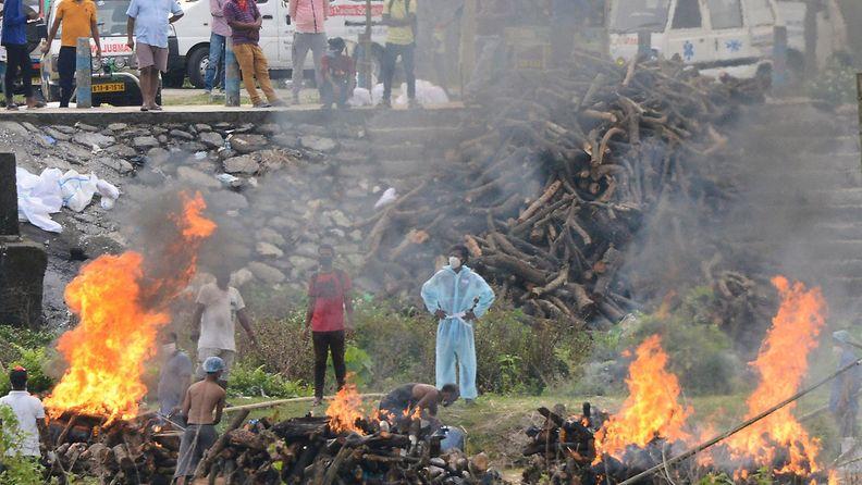 Intia polttohautaus afp