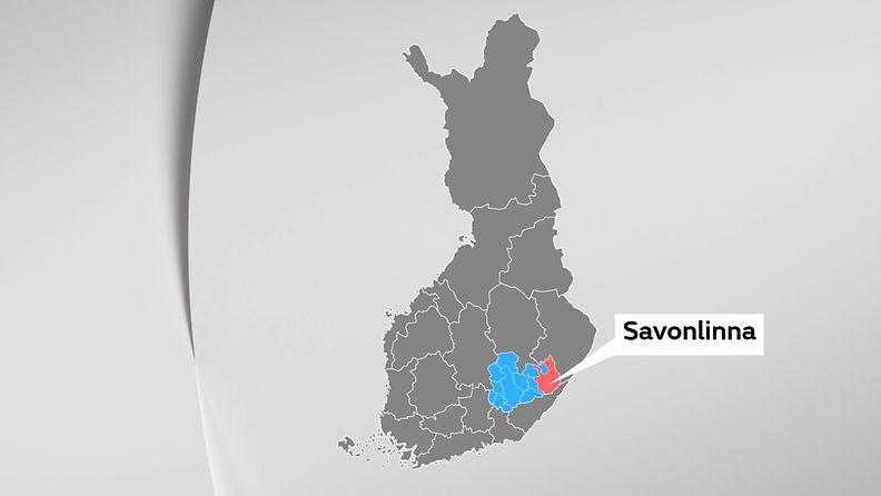 Savonlinna kartta