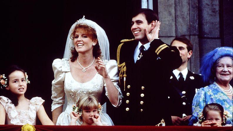 AOP Sarah ja prinssi Andrew hääkuva 1986