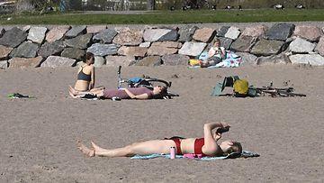 LK lämpö, helle, aurinko, ranta