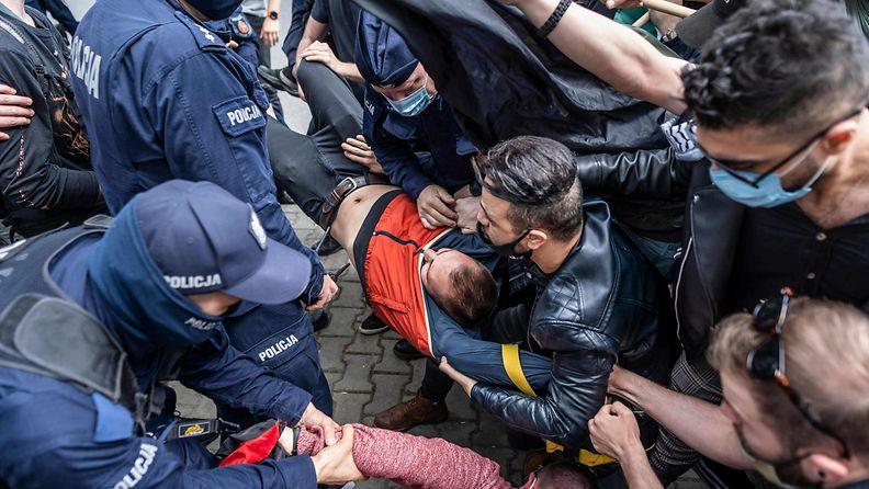 Varsova-tukimielenosoitus-palestiinalaiset