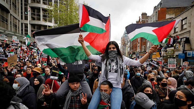 Lontoo-tukimielenosoitus-palestiinalaiset