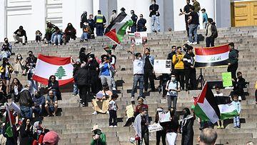 LK1605 Helsinki mielenosoitus palestiinalaiset