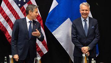 LK 19.5.2021 Yhdysvaltain ulkoministeri Antony Blinken ja ulkoministeri Pekka Haavisto (vihr.)