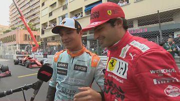 Lando Norris, Carlos Sainz, 2021, Monaco