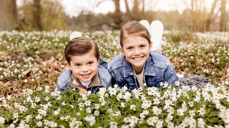 Prinssi Oscar ja prinsessa Estelle toukokuu 2021