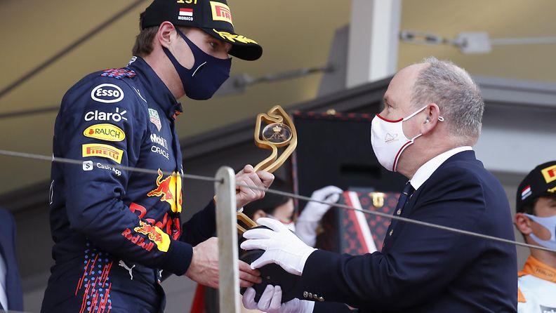 AOP Monacon ruhtinas Albert ja Max Verstappen