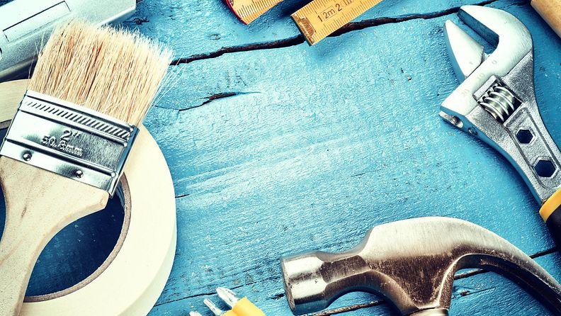 maalaaminen, remontti, työvälineet