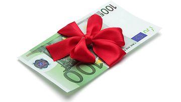 sata euroa, lahja, raha