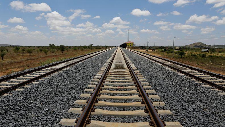 AOP Rautatiekiskot ja junarata Kiinassa.