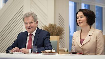 LK 04.06.2021 presidenttipari, Sauli Niinistö, Jenni Haukio