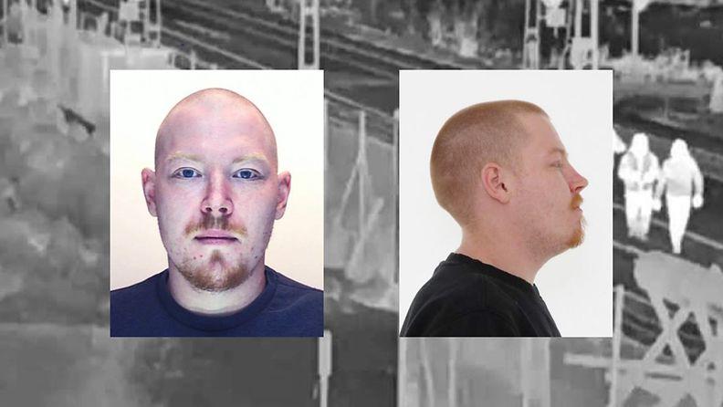 Europolin kuvat Jussi Laamanen, jota Ruotsi etsii suorittamaan 18 vuoden vankeusrangaistusta murhasta.