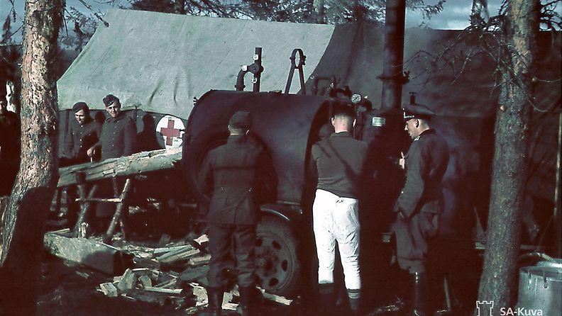 SA-kuva Saksalainen kenttäsairaala Alakurtti Salla 1941