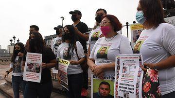Meksikossa protestoidaan huumekartellien yhteenottojen seurauksena kadonneiden vuoksi.