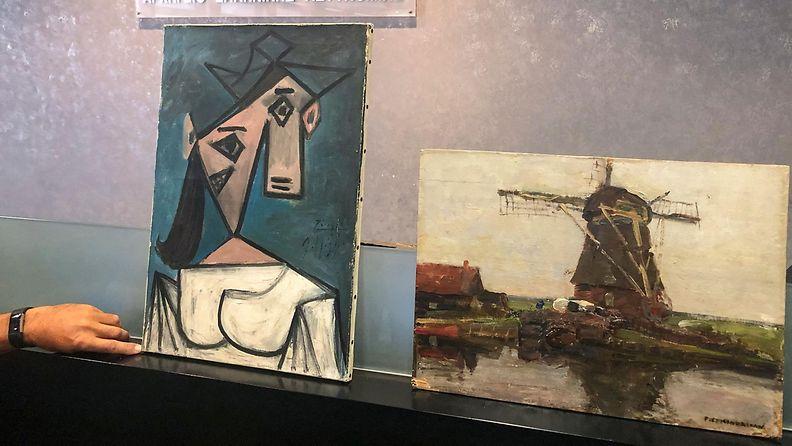 LK 29062021 Piet Mondrianin Kreikassa löytynyt teos esittää tuulimyllyä.