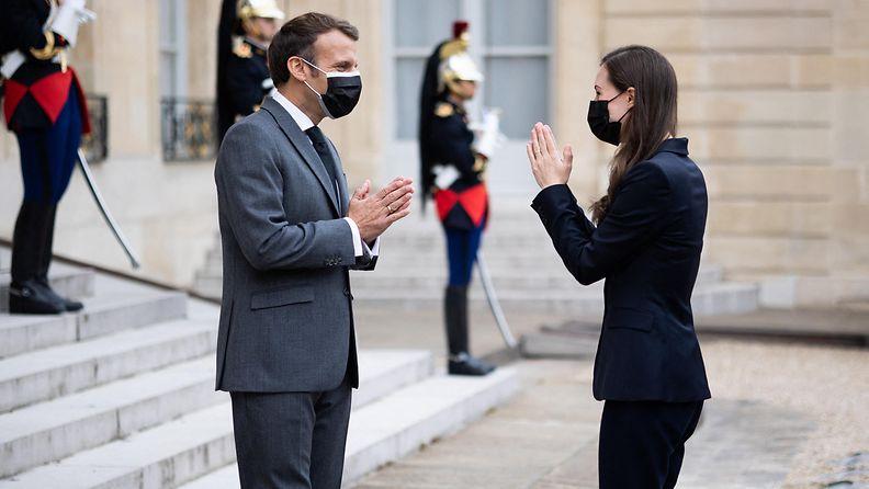 AOP: Emmanuel Macron ja Sanna Marin, Pariisi 1.7.2021