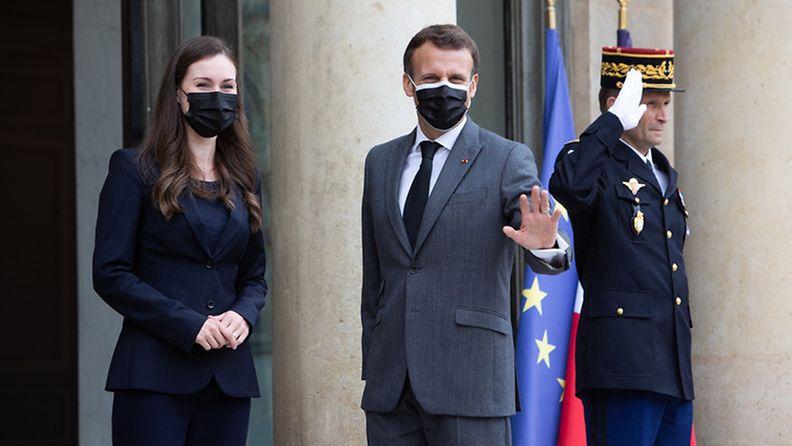 AOP: Pariisi 1.7.2021, Emmanuel Macron ja Sanna Marin