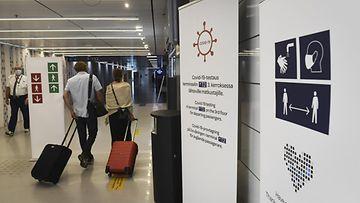 Helsingin lentoasema koronatestaus LK 7.7.2021