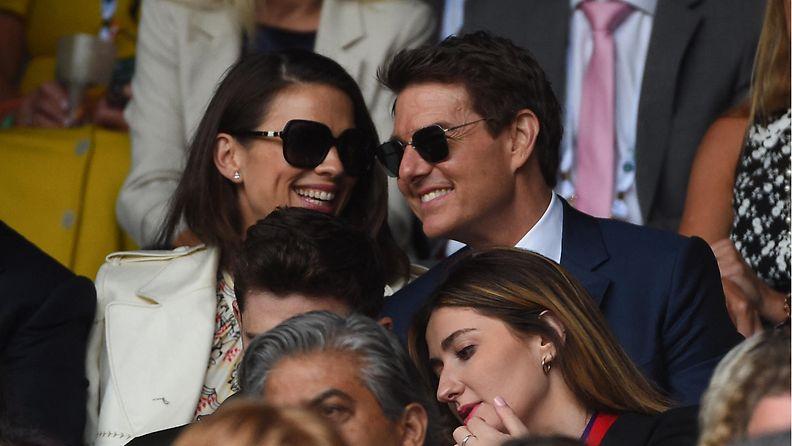 Hayley Atwell Tom Cruise Wimbledon 2021