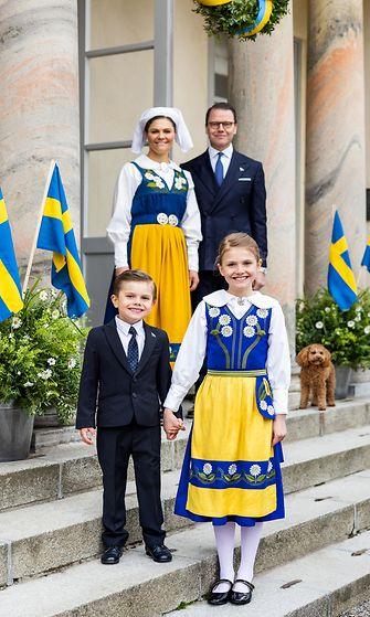 Kruununprinsessa Victorian perhe 6.6.2021