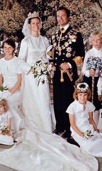AOP Kaarle Kustaa Silvia häät 1976