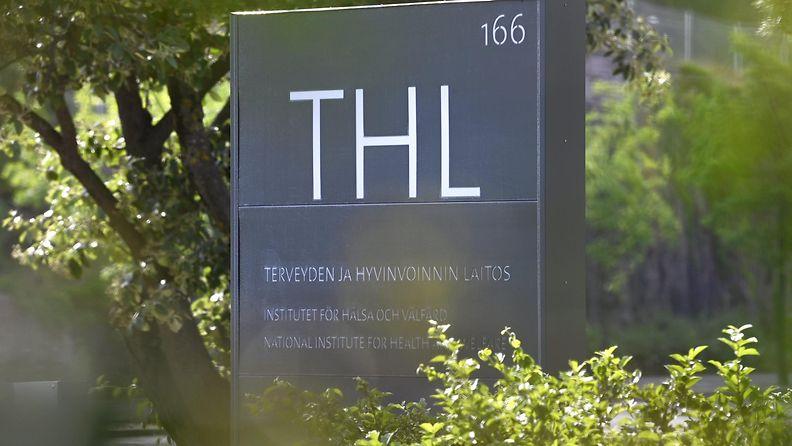 LK 15.7.2021 Terveyden ja hyvinvoinnin laitoksen THL:n kyltti Helsingissä 5. heinäkuuta 2021.