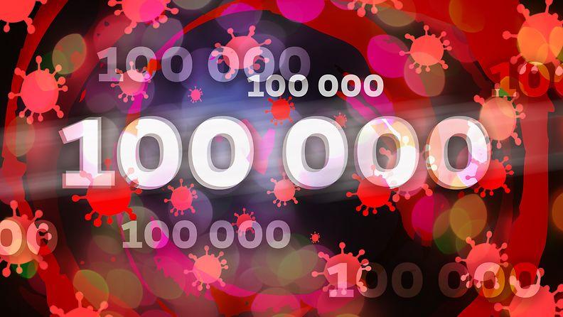 100 000 koronatartuntaa