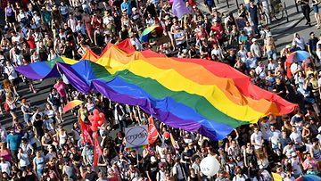 Budapestin pride vuonna 2019.