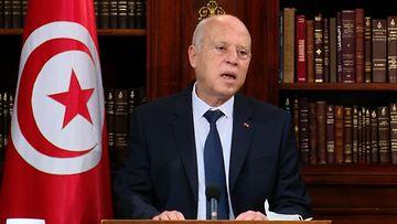 Tunisian presidentti Kais Saied