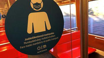 Korona maski metro Helsinki