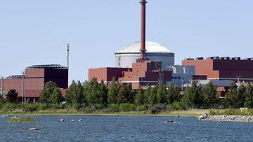 TVO:n OL 3 Olkiluodon voimala-alueella  Eurajoella 29. toukokuuta 2018.