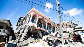 Haitin maanjäristyksen tuhoja.