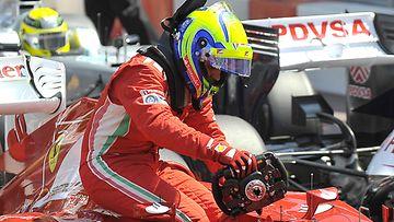 Massa alkaa päästä jyvälle Ferrari-autostaan