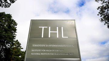 THL:n kyltti Helsingissä.
