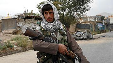 Taleban-taistelija Kabulissa.