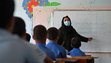 Koululuokka Kabulissa.