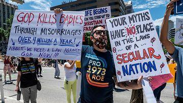 LK: Texas, aborttilaki, mielenosoitus