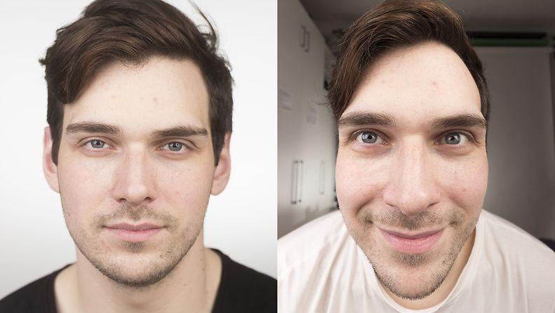 Kameran objektiivi vaikuttaa ihmisen ulkonäköön