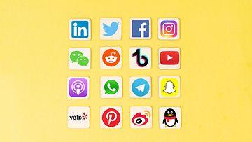 AOP sosiaalinen media, tiktok, youtube, instagram
