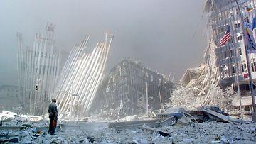 LK 10.9.2021 Tämä kuva on otettu New Yorkissa World Trade Centerin raunioilla 10. syyskuuta 2021.